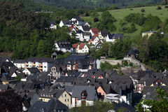 Residential houses in German town Royalty Free Stock Photo