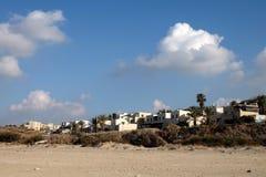 Kibbutz Palmachim in Israel. Residential houses of kibbutz Palmachim on Mediterranean seaside in Israel Stock Image