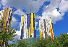 Residential houses in Krasnogorsk Royalty Free Stock Images