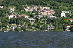 Residential houses at lake Como, Italy Royalty Free Stock Photos