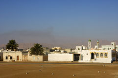 Residential houses and mosque Stock Photo