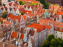 Residential houses in Old Town of Gdansk Royalty Free Stock Photo