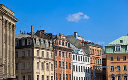 Residential houses in old town, Riga Stock Image
