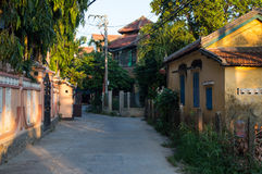 Residential Houses in a Quiet Neighborhood of Hoi An, Vietnam Royalty Free Stock Image