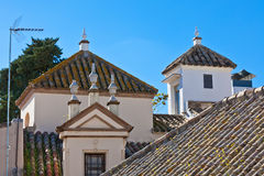 Residential houses roofs in Seville, Spain Stock Photos