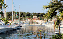 residential houses by the sea,view,yachts Royalty Free Stock Image