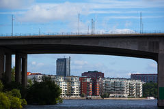 Residential houses in Stockholm Royalty Free Stock Photos