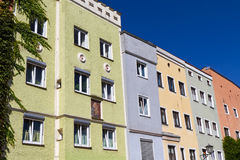 Residential houses in Wasserburg, Germany. Historic houses in the town of Wasserburg, Bavaria, Germany Royalty Free Stock Photos