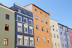 Residential houses in Wasserburg, Germany Royalty Free Stock Photos