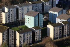 Residential housing apartments Stock Images