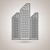 Residential icon design Stock Image