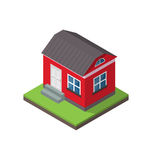 Residential isometric house isolated on white background Royalty Free Stock Photography