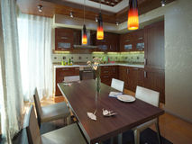 Residential kitchen Royalty Free Stock Photos