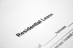 Residential lease Royalty Free Stock Photo