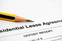 Residential lease agreement Stock Photo
