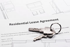 Residential lease agreement Stock Photography