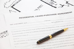 Residential lease- purchase agreement. Business Document of Residential lease- purchase agreement Royalty Free Stock Photos