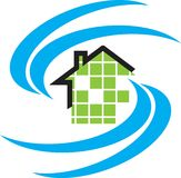 Residential logo Royalty Free Stock Image