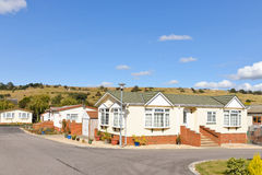 Residential mobile home park estate. New residential mobile home park in South East England. Generally this type of caravan park estate is for home owners over Stock Photography