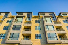 Residential modern buildings, Foster City, San Francisco bay area, California royalty free stock image