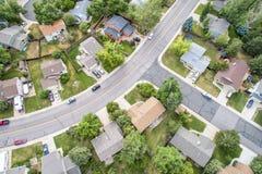 Free Residential Neighborhood Aerial Veiw Royalty Free Stock Photography - 121740087