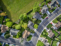 Residential neighborhood aerial veiw Royalty Free Stock Photos