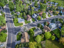 Residential neighborhood aerial view Royalty Free Stock Photography