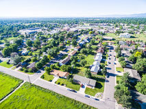 Residential neighborhood Royalty Free Stock Images