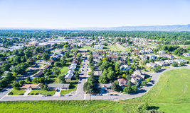 Residential neighborhood. Aerial view of residential neighborhood in Lakewood, Colorado stock photography