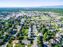 Residential neighborhood. Aerial view of residential neighborhood in Lakewood, Colorado stock images