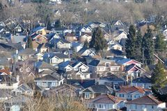 Residential Neighborhood Houses Stock Photo