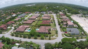 Residential neighborhood Miami aerial