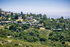 Residential Neighborhood On Top Of A Hill Royalty Free Stock Photo