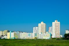 Residential neighborhood on the outskirts of Minsk Stock Photo