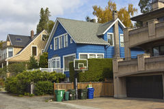 Residential neighborhood Seattle WA. Stock Photos