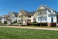 Residential neighborhood street Royalty Free Stock Image