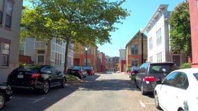 Residential neighborhood Washington DC stock video footage