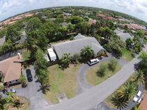 Residential neoghborhood in Florida aerial Stock Photography