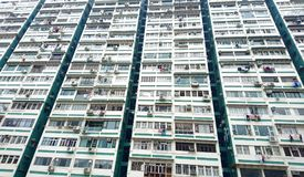 Residential Old Apartment. In Hong Kong Stock Photos