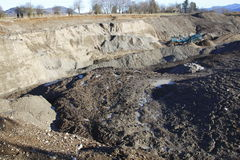 Residential Open Pit Royalty Free Stock Photo