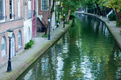 Residential Oudegracht Royalty Free Stock Photos