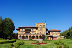 Residential palace in Getxo Royalty Free Stock Photos