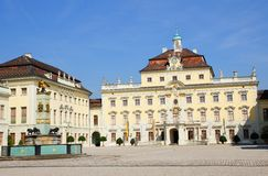 Residential palace in ludwigsburg Royalty Free Stock Images