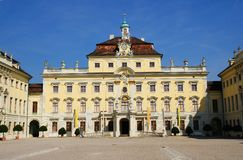 Residential palace in ludwigsburg. The Residential palace in ludwigsburg was built 1704-1733 under the rule of duke eberhard ludwig von württemberg in baroque Royalty Free Stock Image