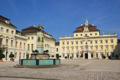 Residential palace in ludwigsburg Stock Image