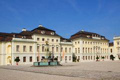 Residential palace in ludwigsburg Stock Images