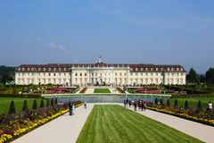 Residential palace in ludwigsburg Royalty Free Stock Image