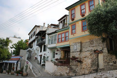 Residential part of Kavala city Stock Photo