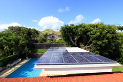 Residential photovoltaic solar system. A great example of a residential photovoltaic solar system royalty free stock images