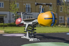 Residential playground see-saw Royalty Free Stock Photos